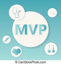 mvp, concept, monde médical, soupape, prolapse), (mitral