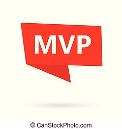 MVP (minimum viable product) acronym on a sticker- vector illustration
