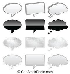 myśl, bańki, rozmowa