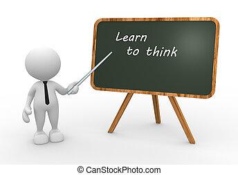 myśleć, uczyć się