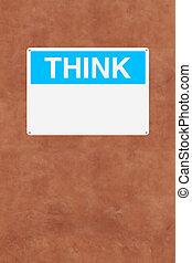myśleć