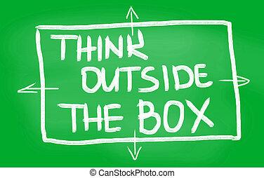 myślenie, boks, zewnątrz