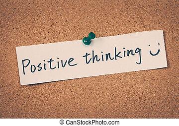 myślenie, dodatni