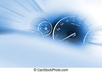 myślnik, szybkościomierz
