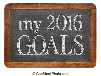 My 2016 goals on blackboard