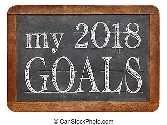My 2018 goals on blackboard