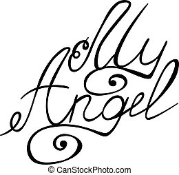 My angel lettering