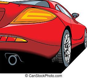 (my, automobile, design), sport, dettaglio, originale, rosso