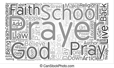 My Back To School Prayer text background word cloud concept