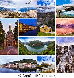 (my, colagem, viagem, photos), imagens, noruega