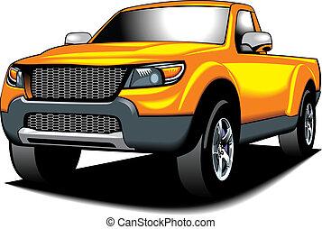 (my, cor, car, amarela, design), 4x4, meu, original