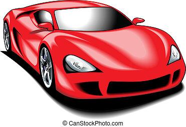 (my, couleur, voiture, design), sport, mon, original, rouges