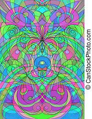 My digital artwork, Drawing Ethnic Style