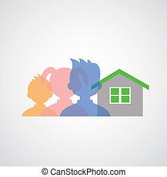 my family icons cartoon