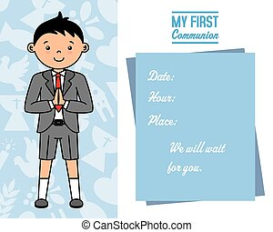 my first communion card