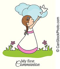 my first communion girl