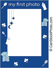 my first photo frame blue