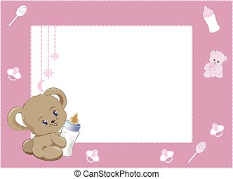 my first photo frame pink 2
