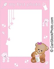 my first photo frame pink