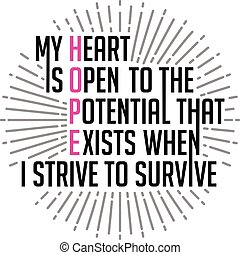 My heart is open to the potential