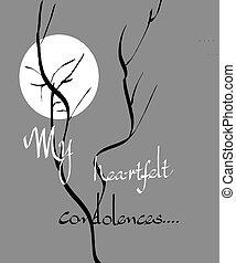 My heartfelt condolences - Sympathy note in calligraphy