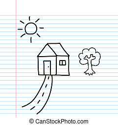 my home cartoon sketch