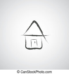 my home hand drawn cartoon sketch