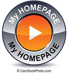 My homepage round button. - My homepage round metallic...