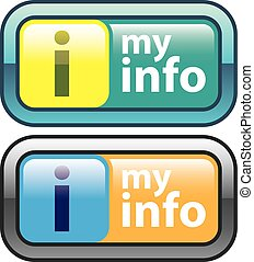 My Info Button Vector