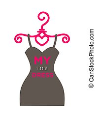 My little dress poster with text and outfit vector - My...
