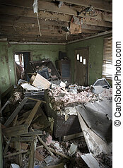 My Living room after Katrina - This is how I found my living...