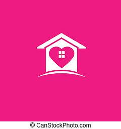 My lovely house image logo