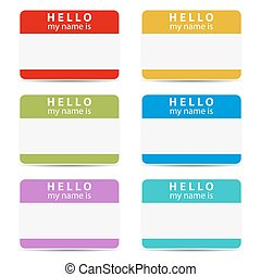 my name is color set