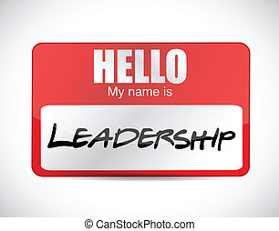 my name is leadership. illustration design