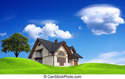 My new sunny house