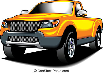 my original 4x4 car (my design) in yellow color isolated on...