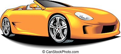 my original car design isolated n the white background