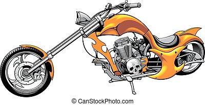 my original motorbike design isolated on the white...