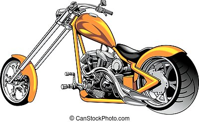 my original motorbike design isolated on the white...