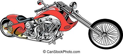 my original motorbike isolated on the white background