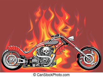 my original motorbike with fire background - my original...