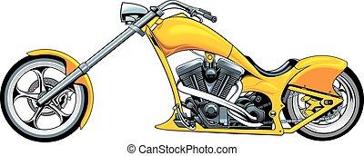 my original motrobike design isolated on the white...