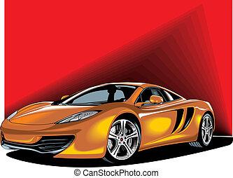 my original sport car design on the red background