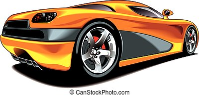 my original sport car design isolated on the white background