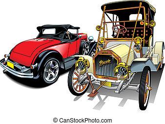 (my, oud, auto's, origineel, sportende, design)