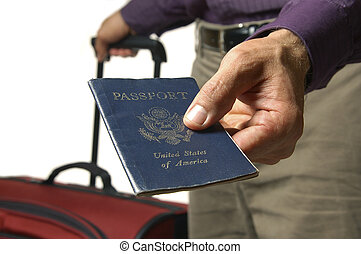 My passport - Traveler hands over US passport
