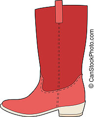 My red boots - Vector illustration of a boot, EPS 8 file