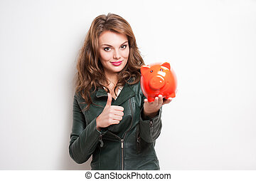 My savings... - Portrait of a cool beautiful young...