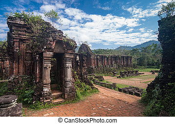 My Son Sanctuary, Vietnam - Remains of Hindu tower-temples ...