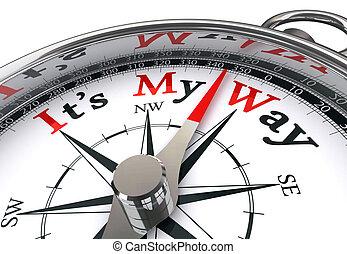 my way conceptual compass